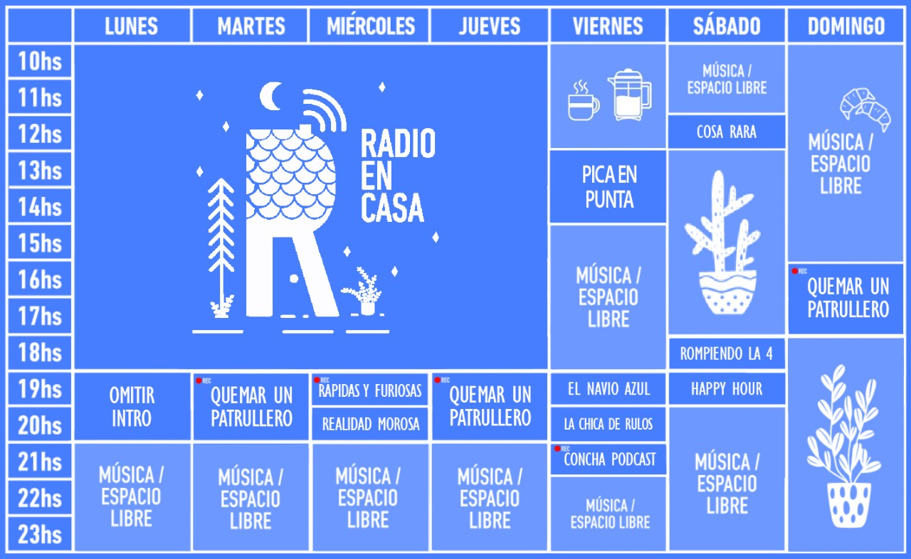 Radio en Casa —Grilla de Programación 2021